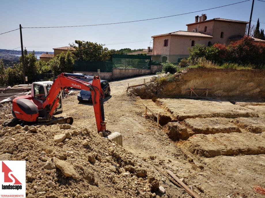 Fondations de maison à Vallauris