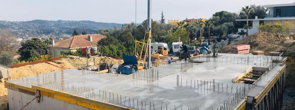 Construction travaux de gros oeuvre à Grasse